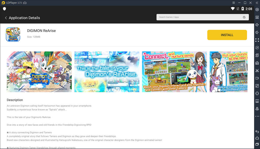 Install Digimon Rearise On Ldplayer
