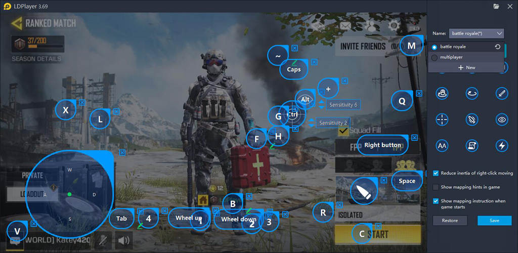 Keymapping Fpr COD Mobile On LDPlayer