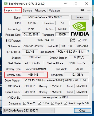 How to see how much graphics memory is being used