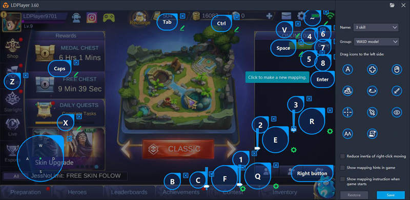 Keyboard Mapping Guide for Mobile Legends: Bang Bang