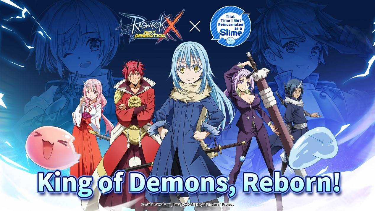 """Ragnarok X: Next Generations Collaboration with Hit Anime """"That Time I Got Reincarnated as a Slime"""" is Now Live!"""