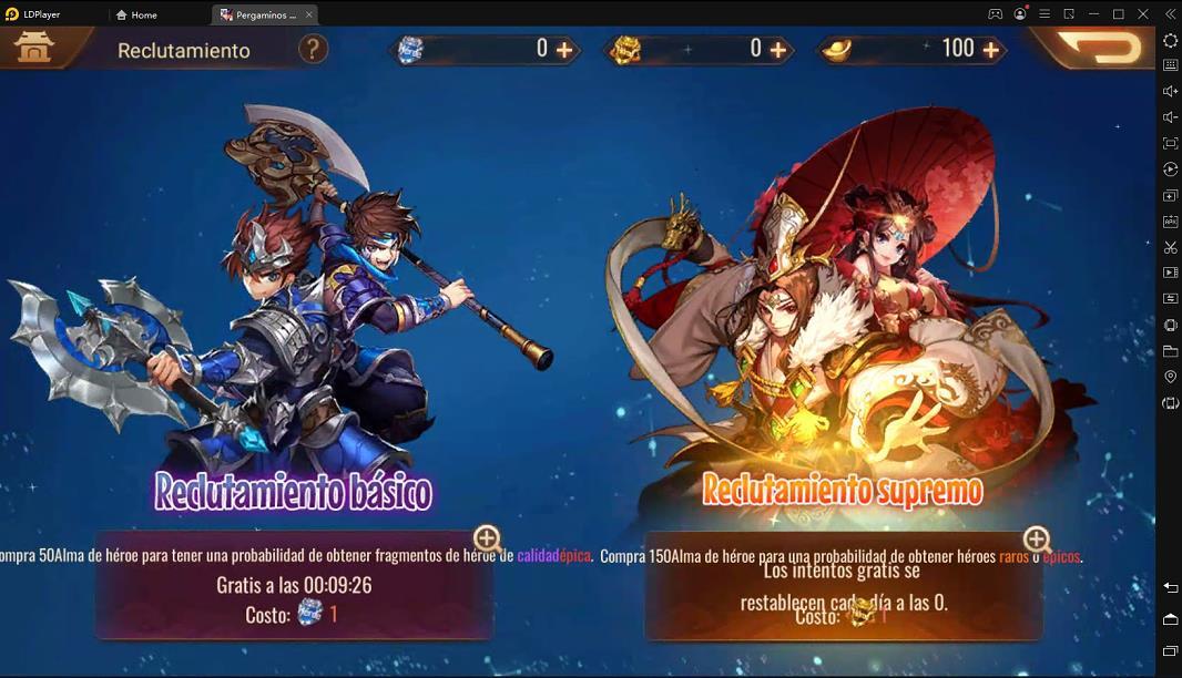 Pergaminos de Dinastía - Guía de Reroll para obtener tu héroe favorito
