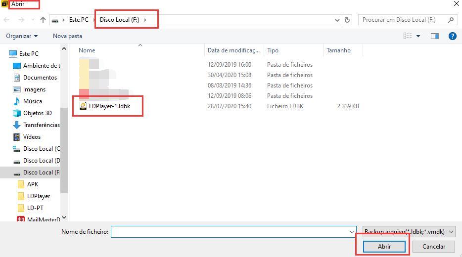 Como fazer backup e restauração no emulador ?