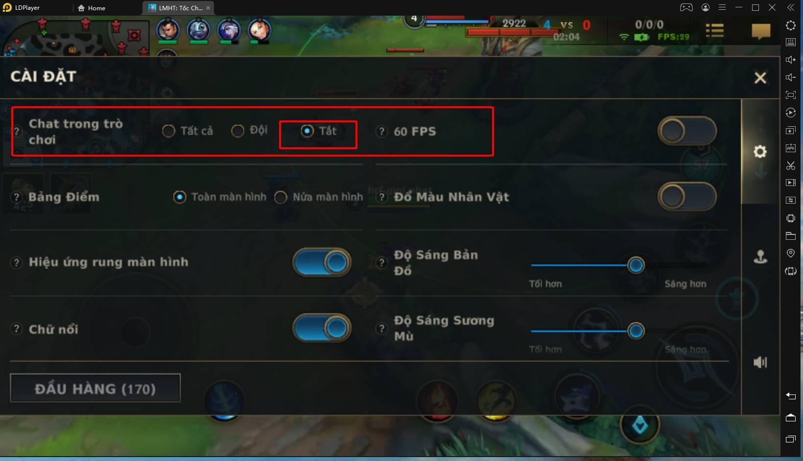 Cách bật 120 FPS cho LMHT: Tốc Chiến