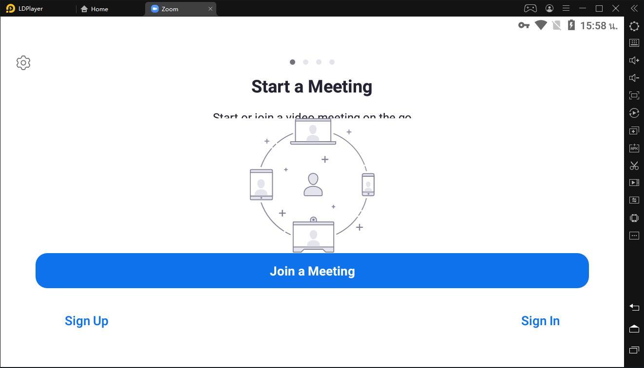 วิธีใช้แอป ZOOM Cloud Meetings เวอร์ชั่น Android บน PC